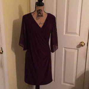 MSK plum dress